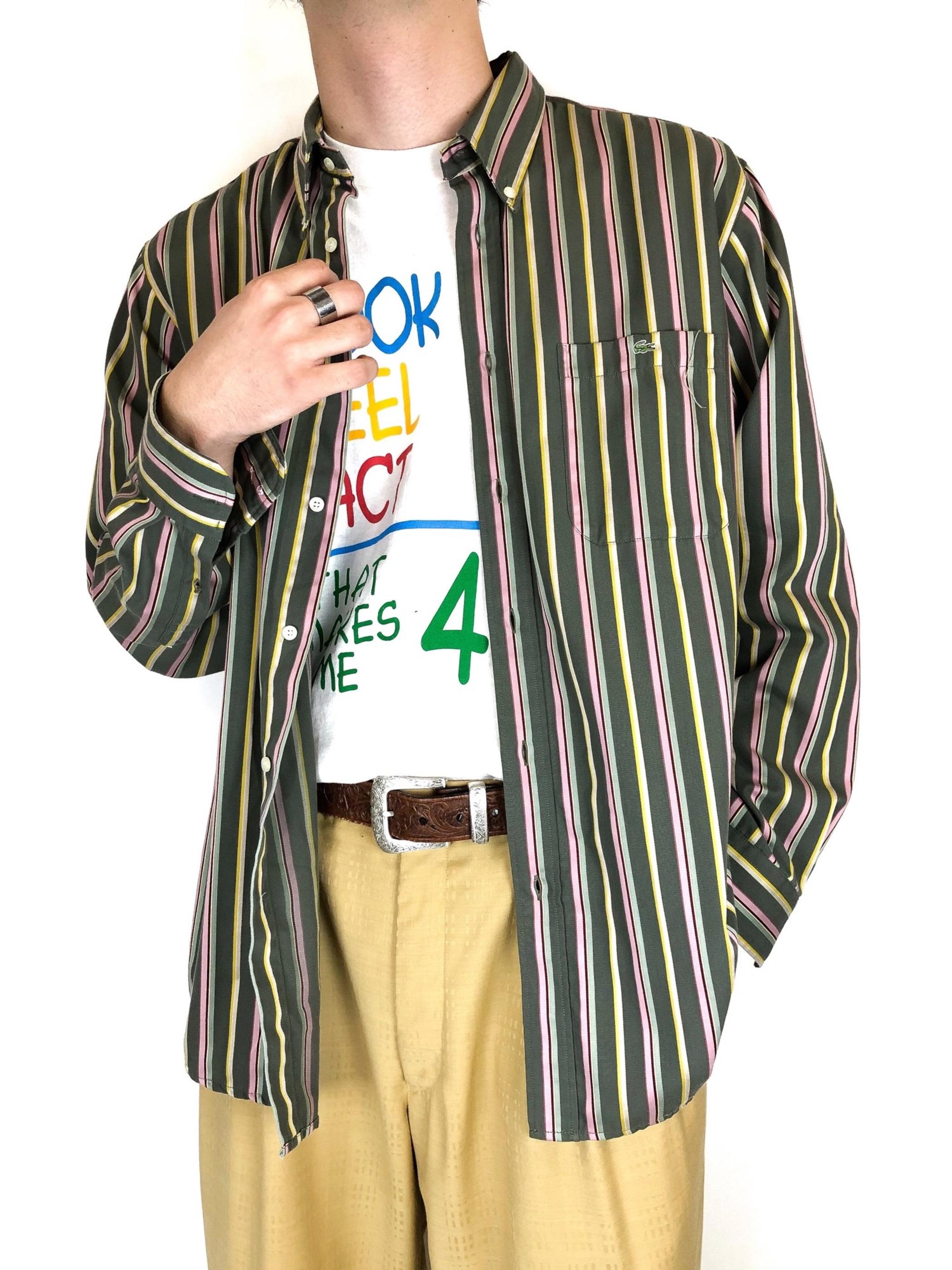 LACOSTE stripe B.D. shirt
