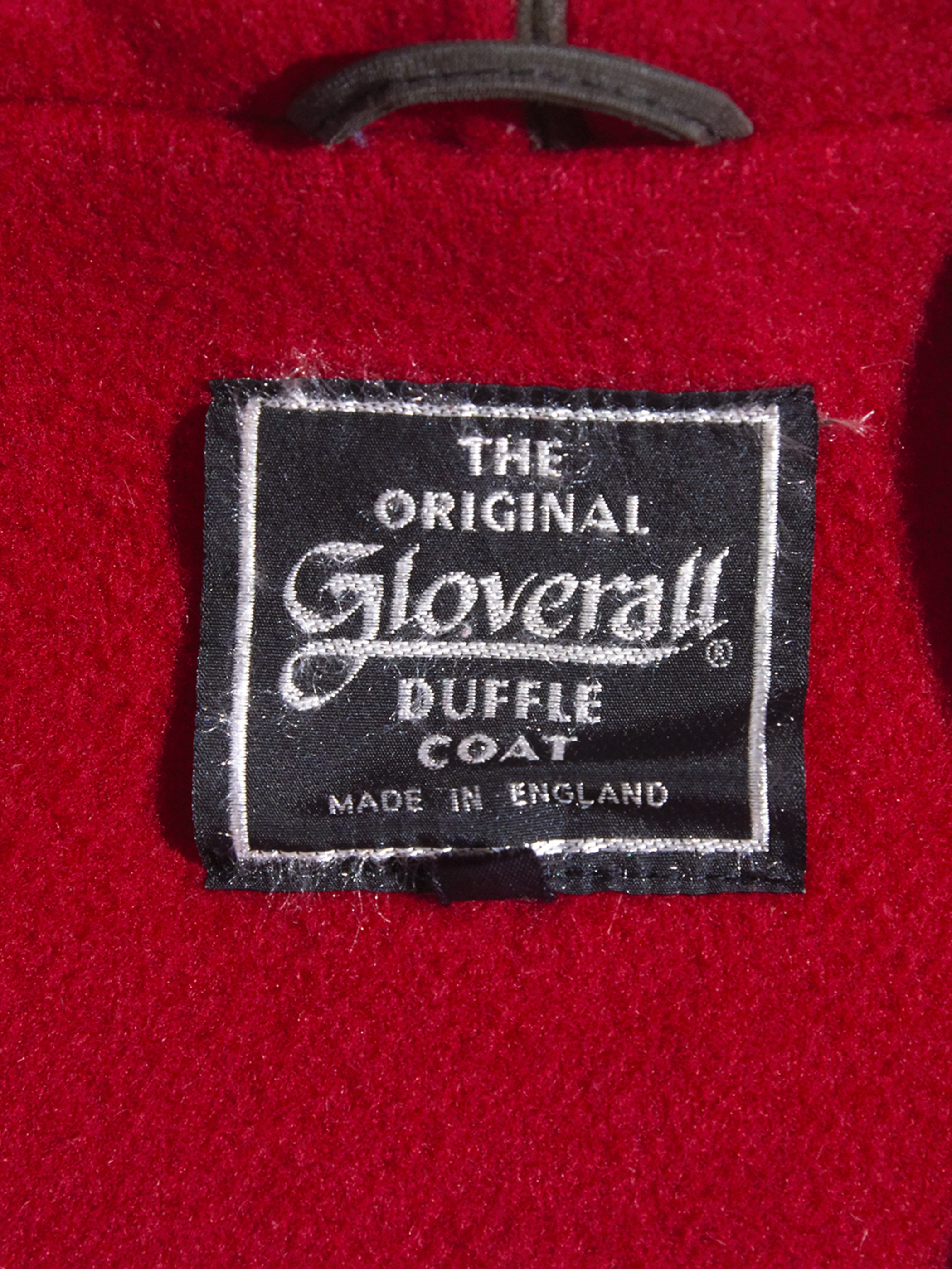 """1980s """"Gloverall"""" melton wool duffle coat -RED-"""