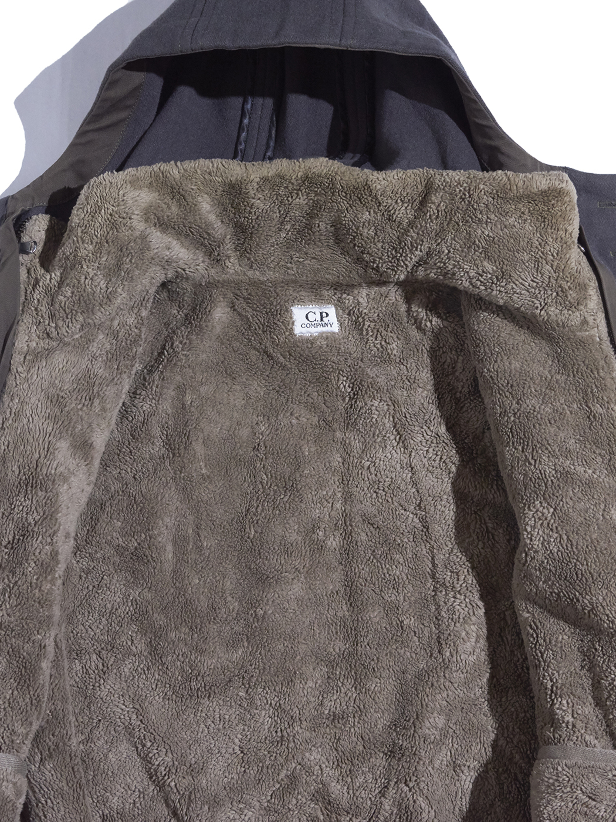 "1990s ""C.P.COMPANY"" wool duffle coat -GREY-"