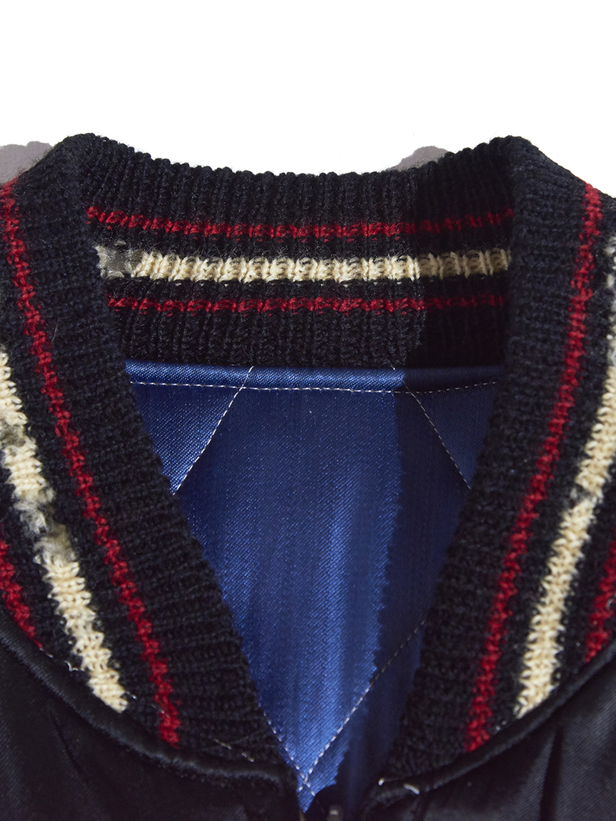 """1960s """"unknown"""" JAPAN reversible souvenir jacket -BLACK×BLUE-"""