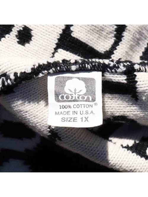 90's JOAN VASS USA製 ジャガードロゴ コットンニット [1X]