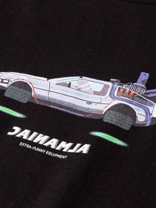 T-shirts [S~XXL] ALMANIAC / REVERSE LOGO FUTURE CAR Black
