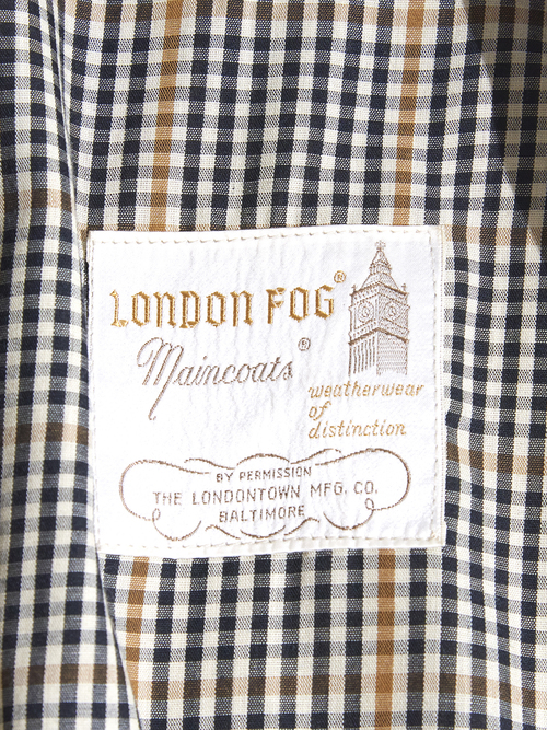 "1970s ""LONDON FOG"" trench coat -BEIGE-"
