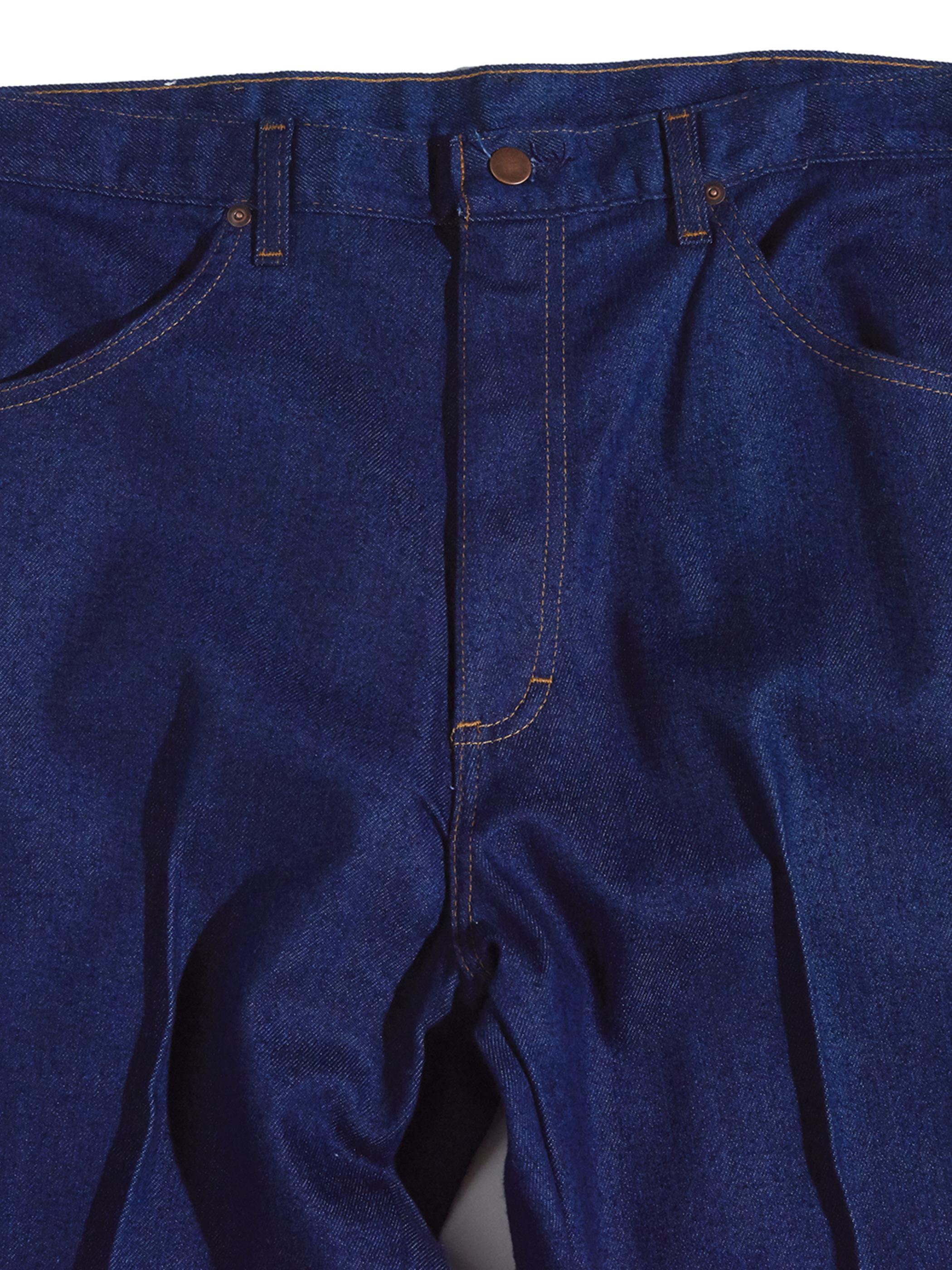 "NOS 1990s ""Roebucks"" custom center crease denim pants -INDIGO-"