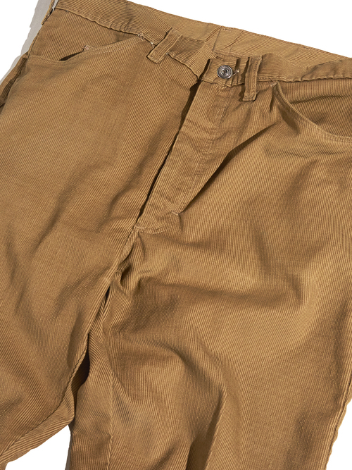 "1960s ""unknown"" corduroy tarpered slacks -BROWN-"