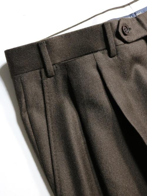 CANALI 2tuck slacks / Made in Italy
