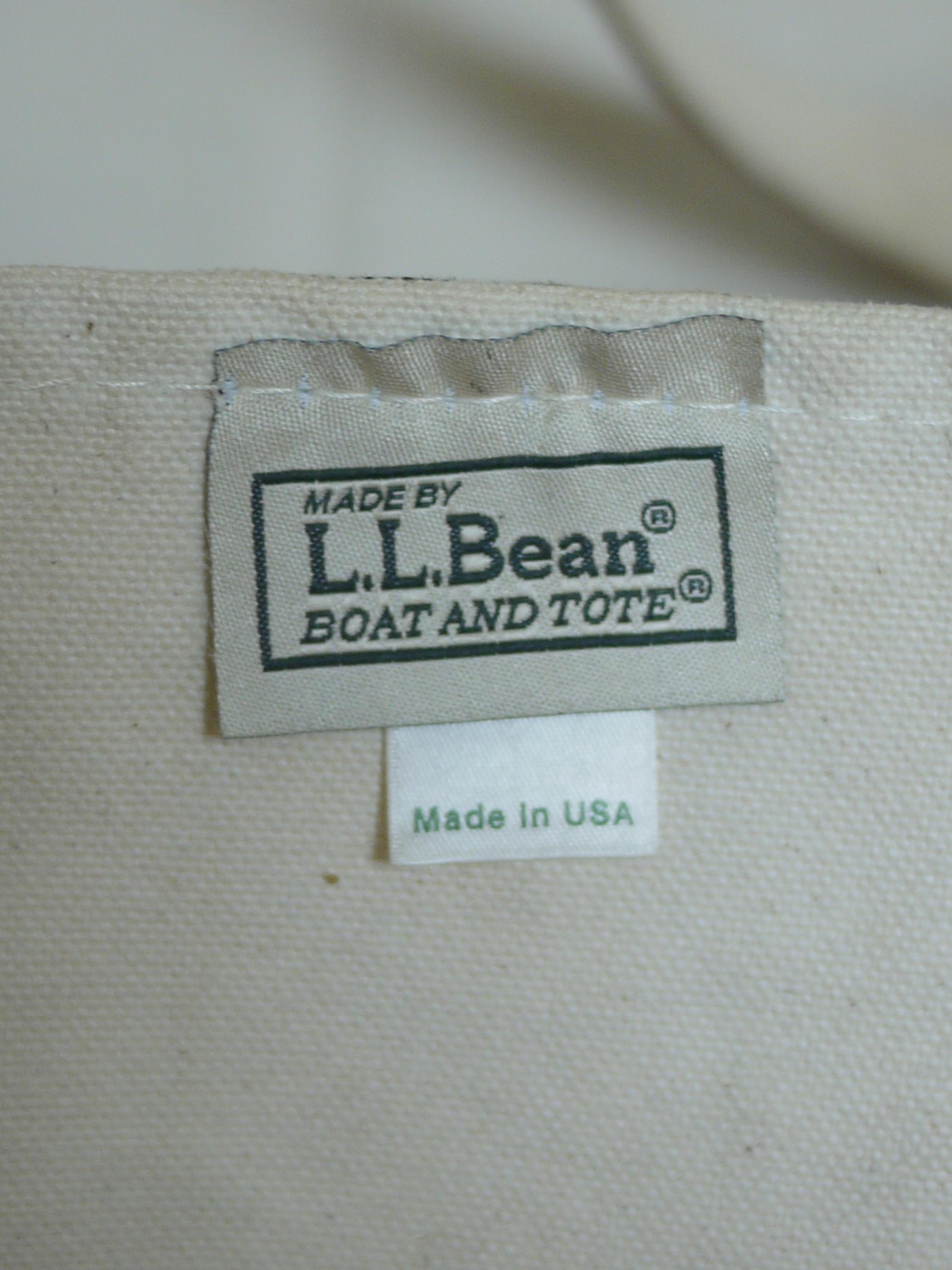 "L.L.Bean BOAT&TOTE CANVAS BAG ""Brown"""
