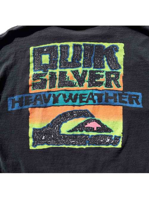 "90's QUIKSILVER  ""HEAVY WEATHER"" プリントTシャツ [L]"