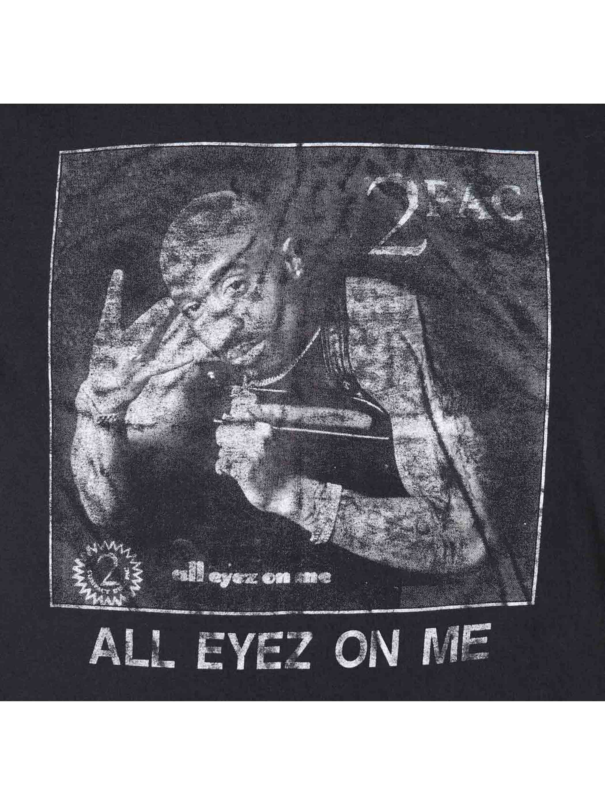 "90's 2PAC ""ALL EYEZ ON ME"" プリントTシャツ [About XL]"