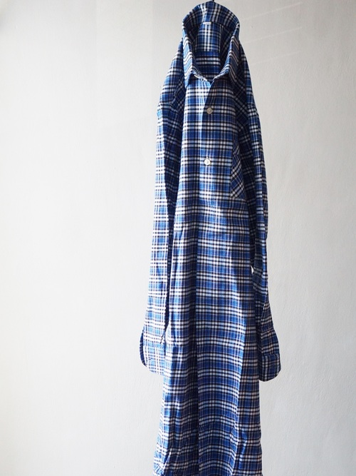 1960's Dead Stock French Long Shirts Blue