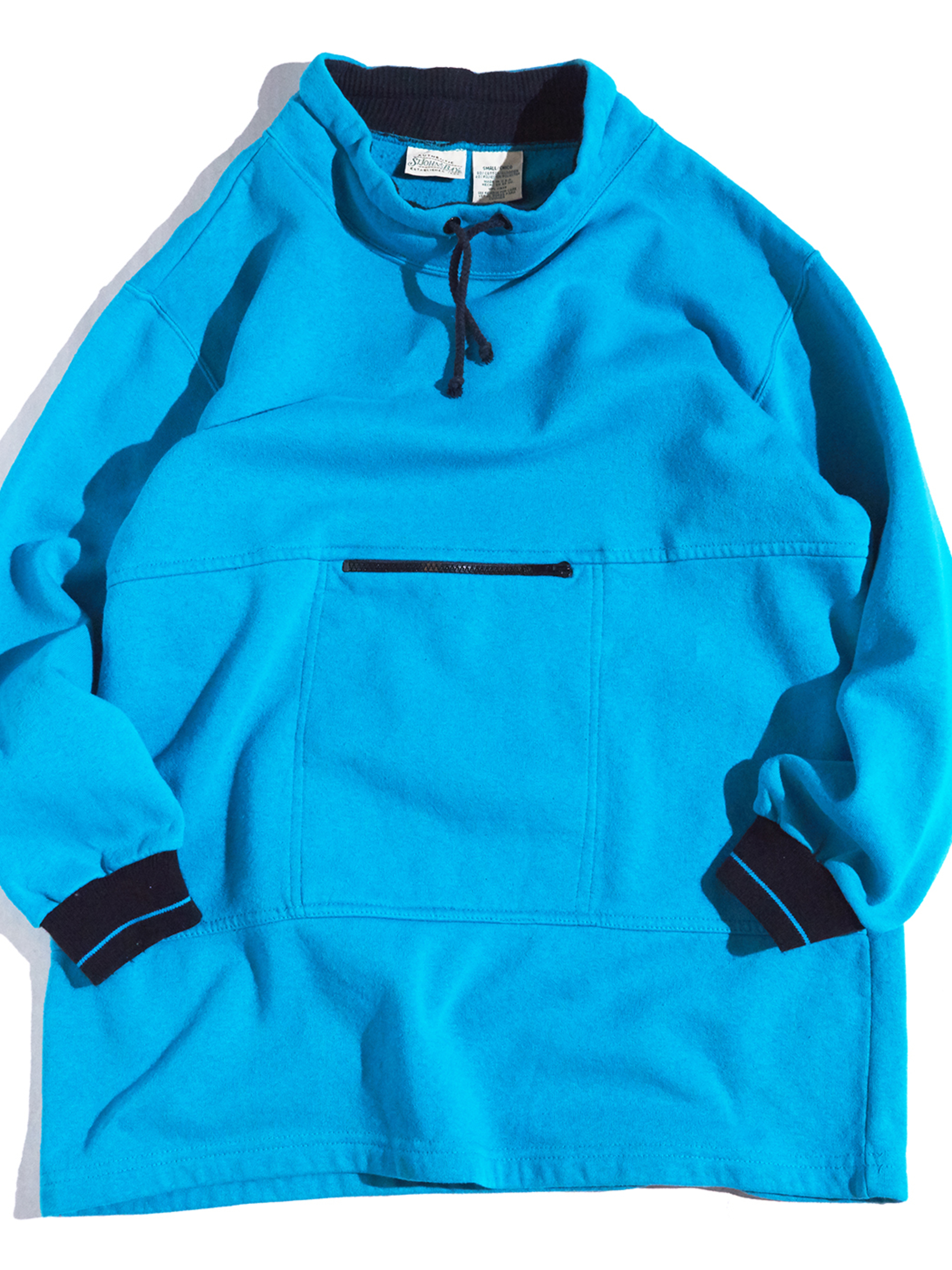 "1990s ""ST JOHNS BAY"" high neck pullover sweat -TURQUOISE-"