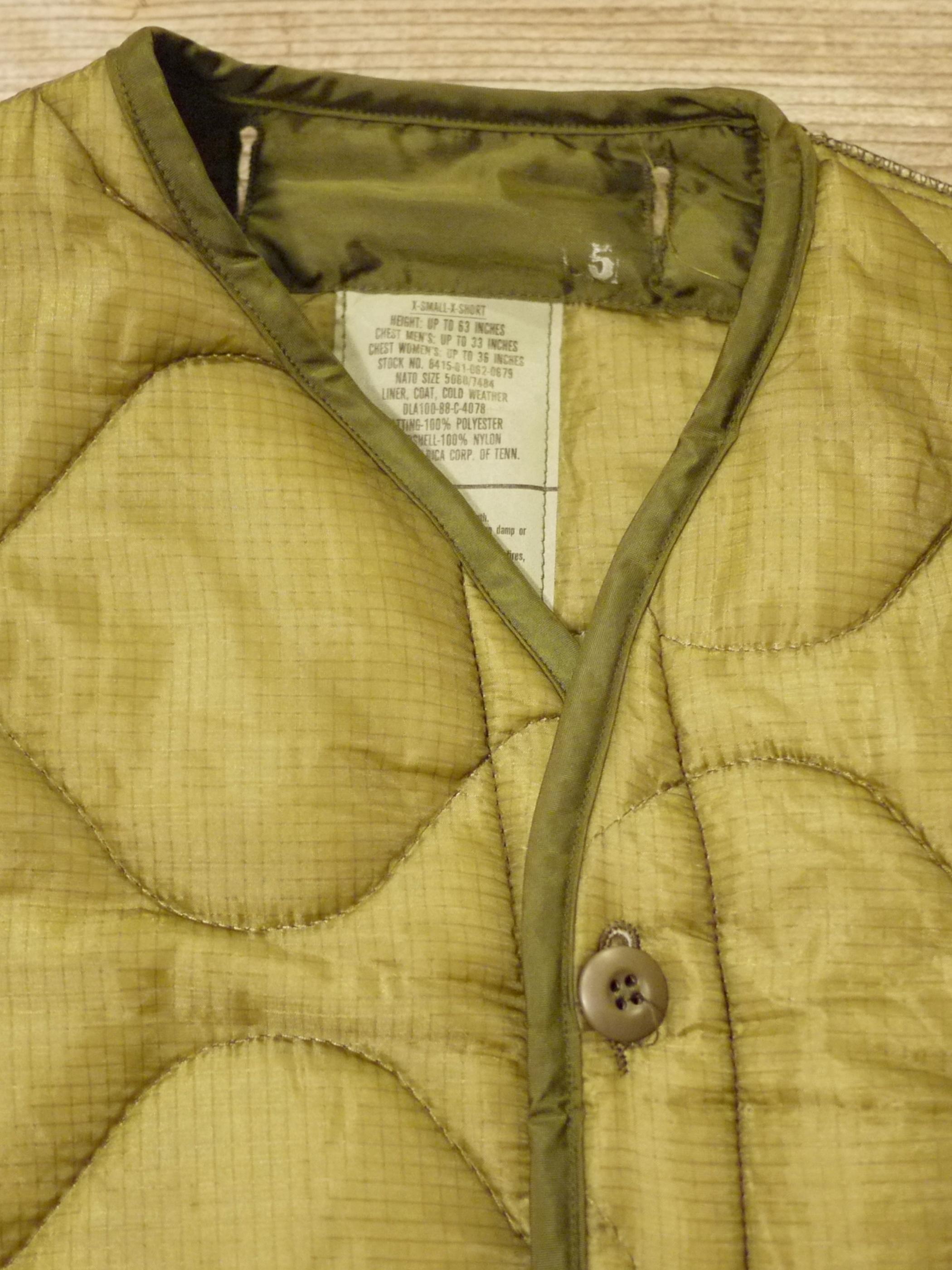 U.S.ARMY 1980's M-65 LINER COAT SizeXS-XS