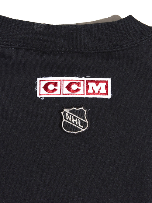 "1990s ""Detroit Red Wings"" print sweat -BLACK-"