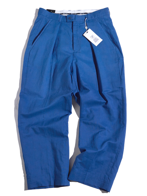 "2000s ""STACY ADAMS"" linen setup -BLUE-"
