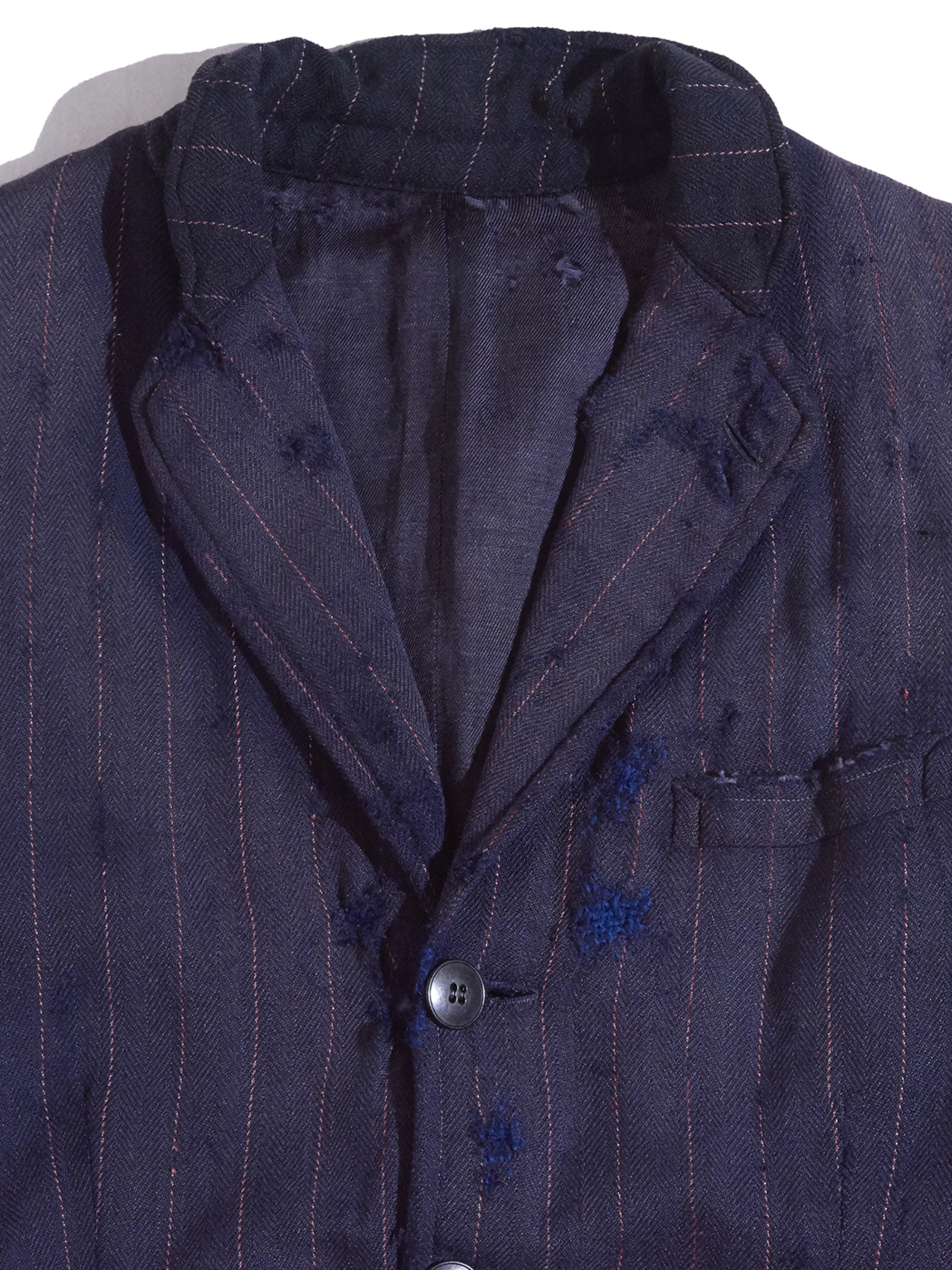 "1930s ""unknown"" wool boro tailored jacket -FADE NAVY-"