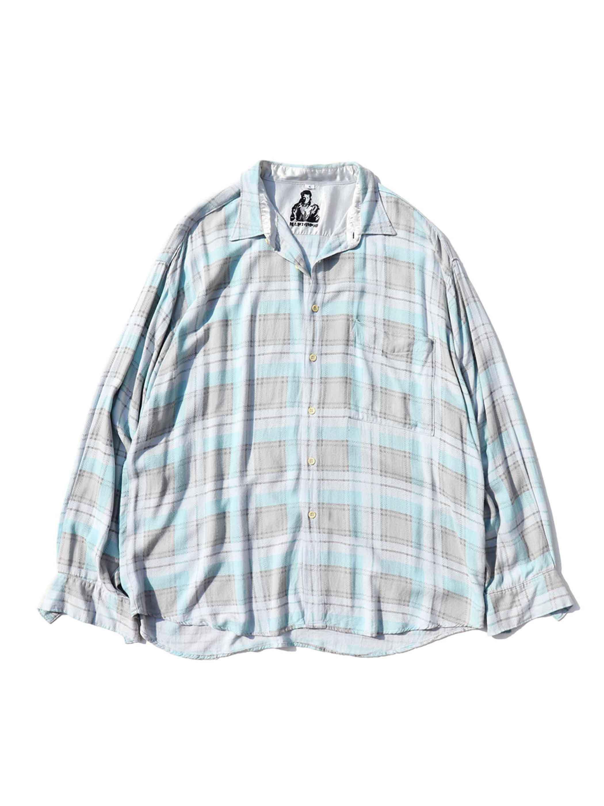 00's MARTOMOD Viscose Print Check Pattern L/S Shirt [6]