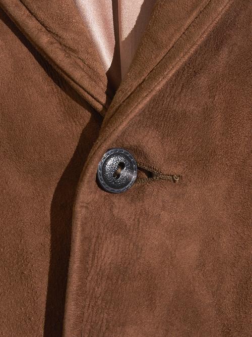 """1960s """"ROSENBLATTS"""" nubak leather tailored jacket -BROWN-"""