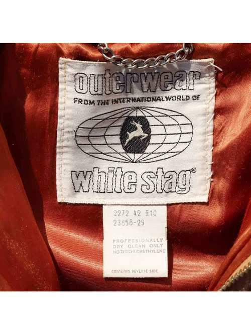 70's WHITE STAG フェイクファー ジップアップジャケット [Women's 10]