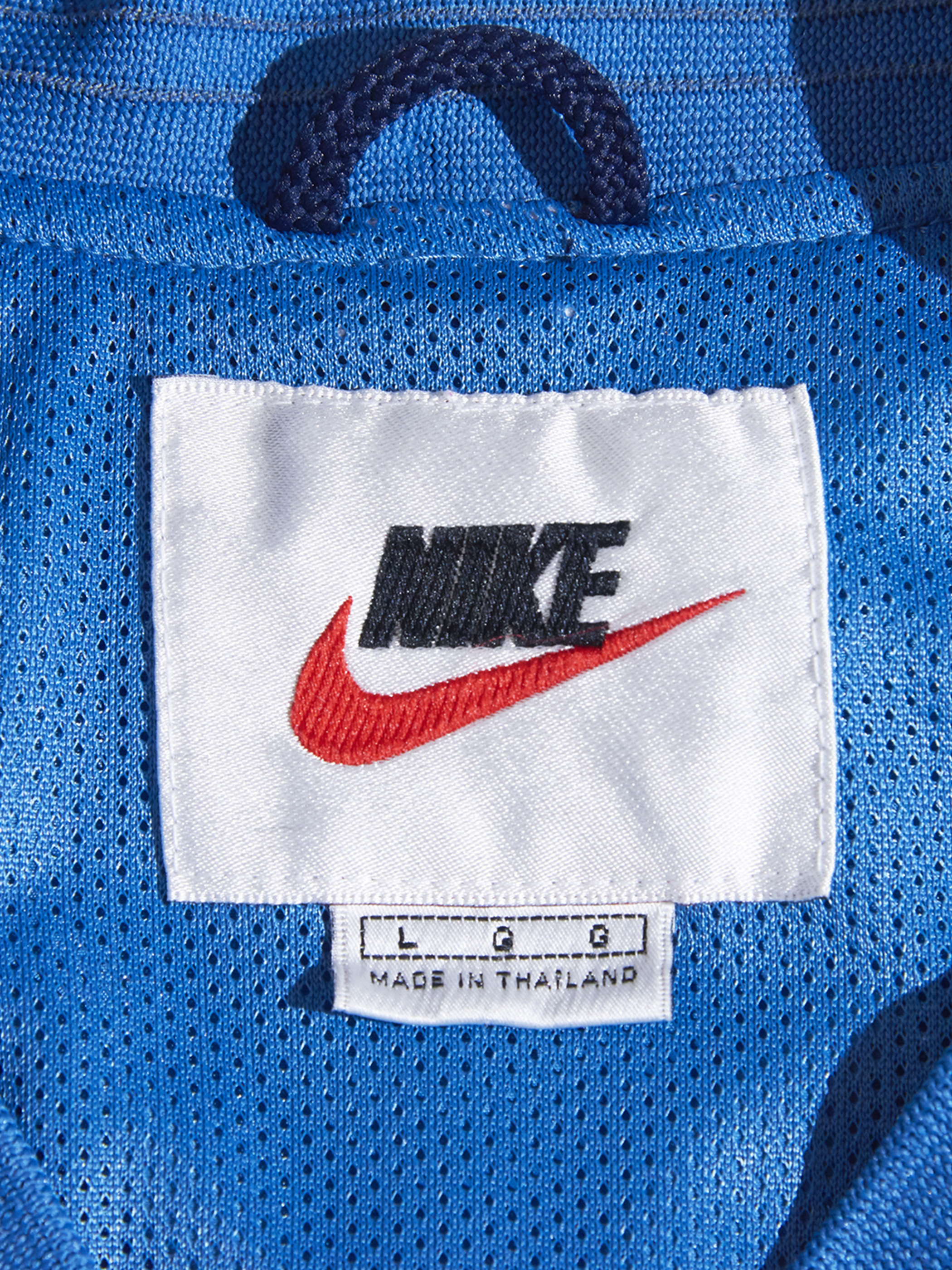 """2000s """"NIKE"""" pullover jacket -SAX-"""
