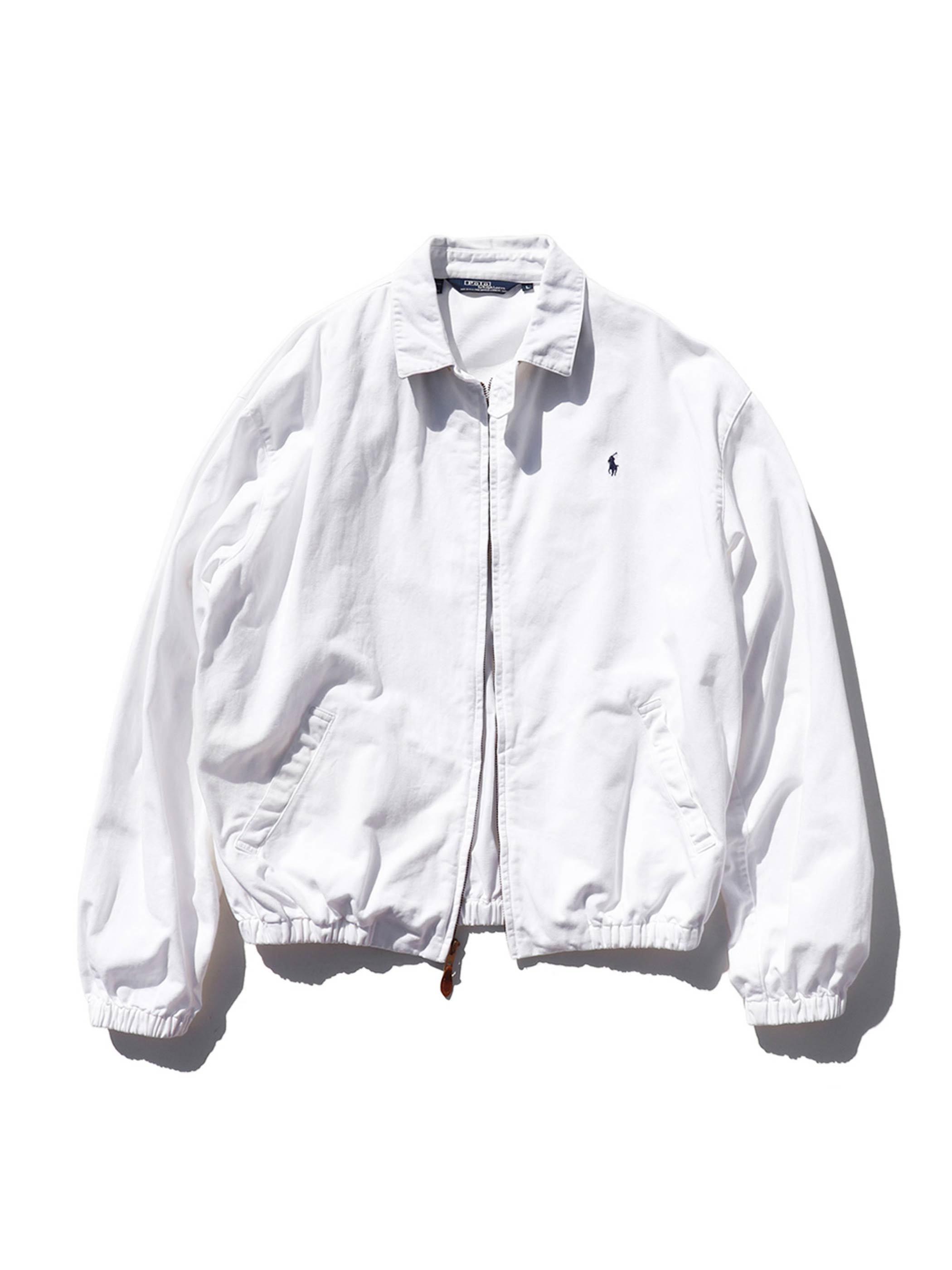 90's RALPH LAUREN USA製 ホワイト ドリズラージャケット [L]