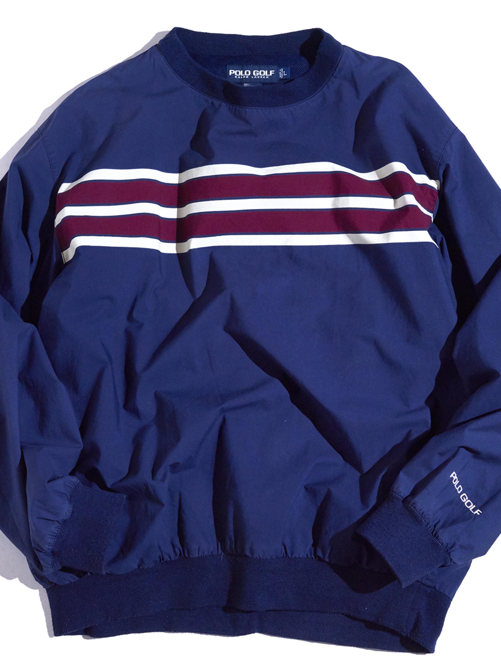 "1990s ""POLO GOLF"" golf pullover shirt -NAVY-"