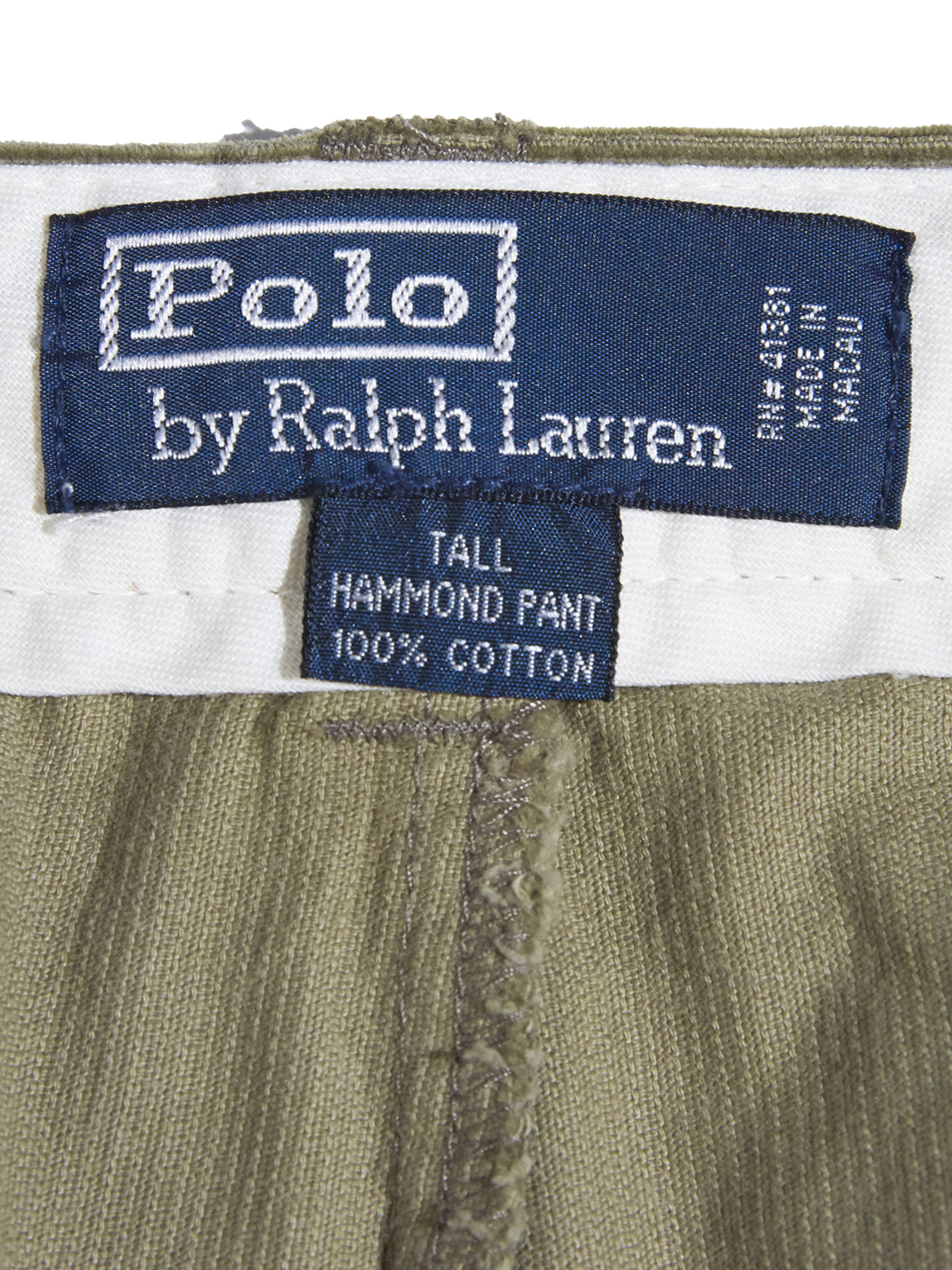 "1990s "" POLO by Ralph Lauren"" corduroy tuck pants -OLIVE-"