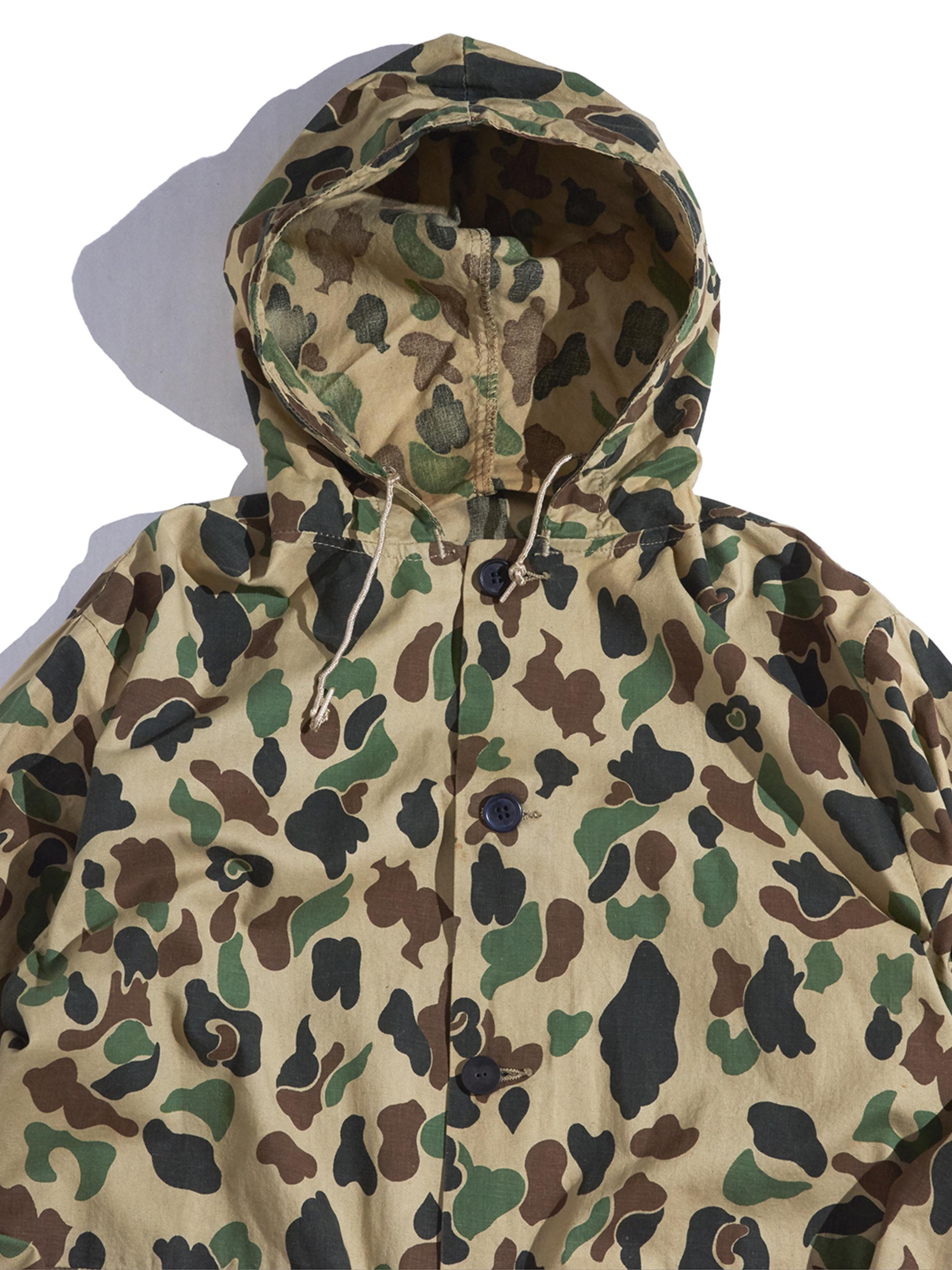 "1960-70s ""SKAGWAY"" huntting camouflage hooded jacket -CAMO-"