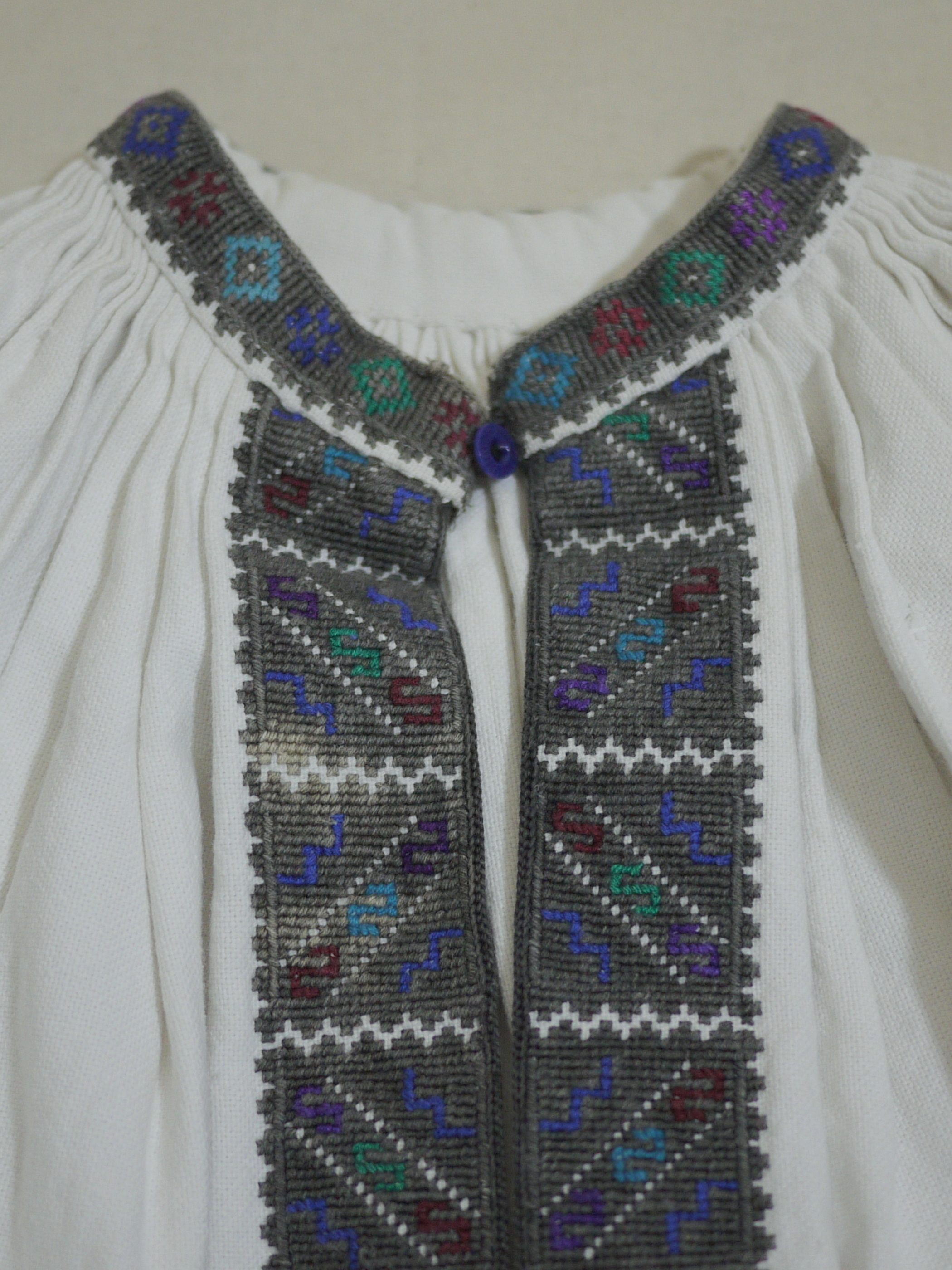 1930's Romanian embroidered dress