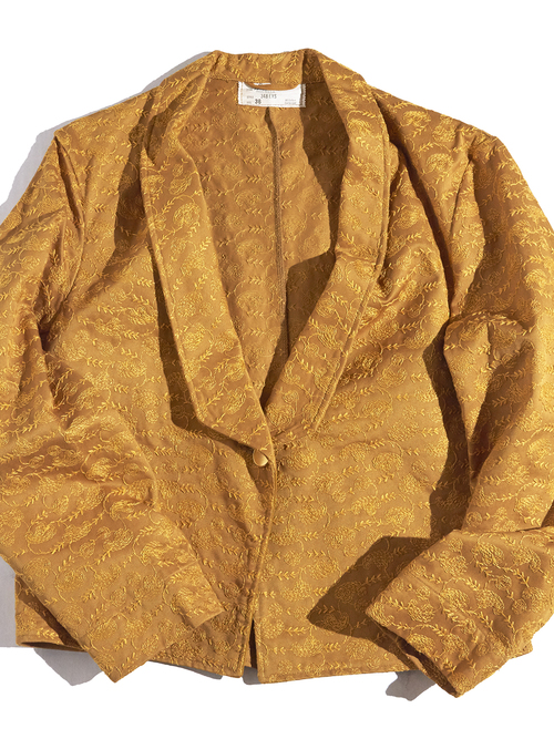 "1960s ""Angelica"" embroidery hotelman jacket -GOLD-"