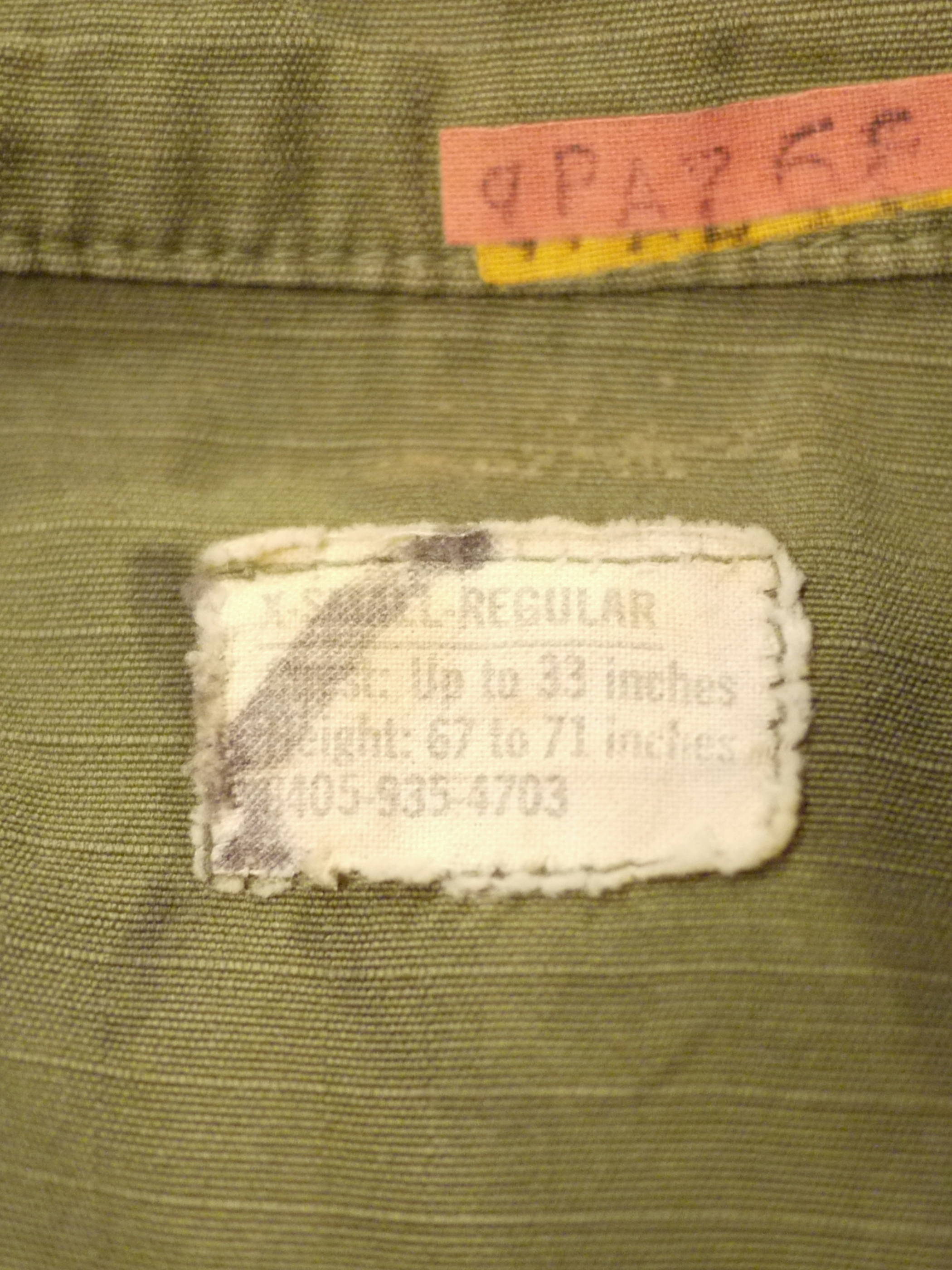 U.S.Military 1970's Fatigue Jacket SizeXS-R #1