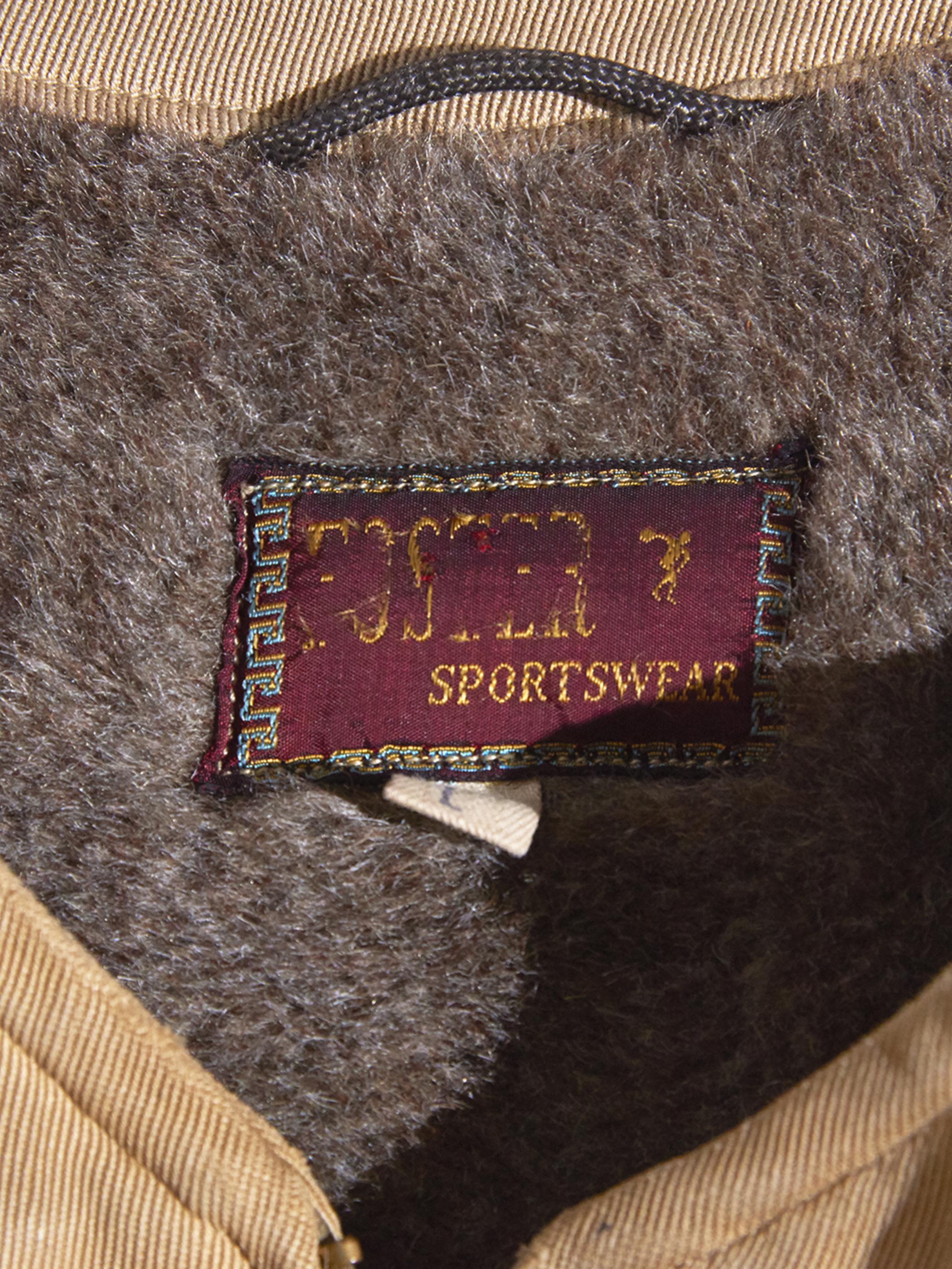 "1950s ""FOSTER"" hunting vest -BEIGE-"