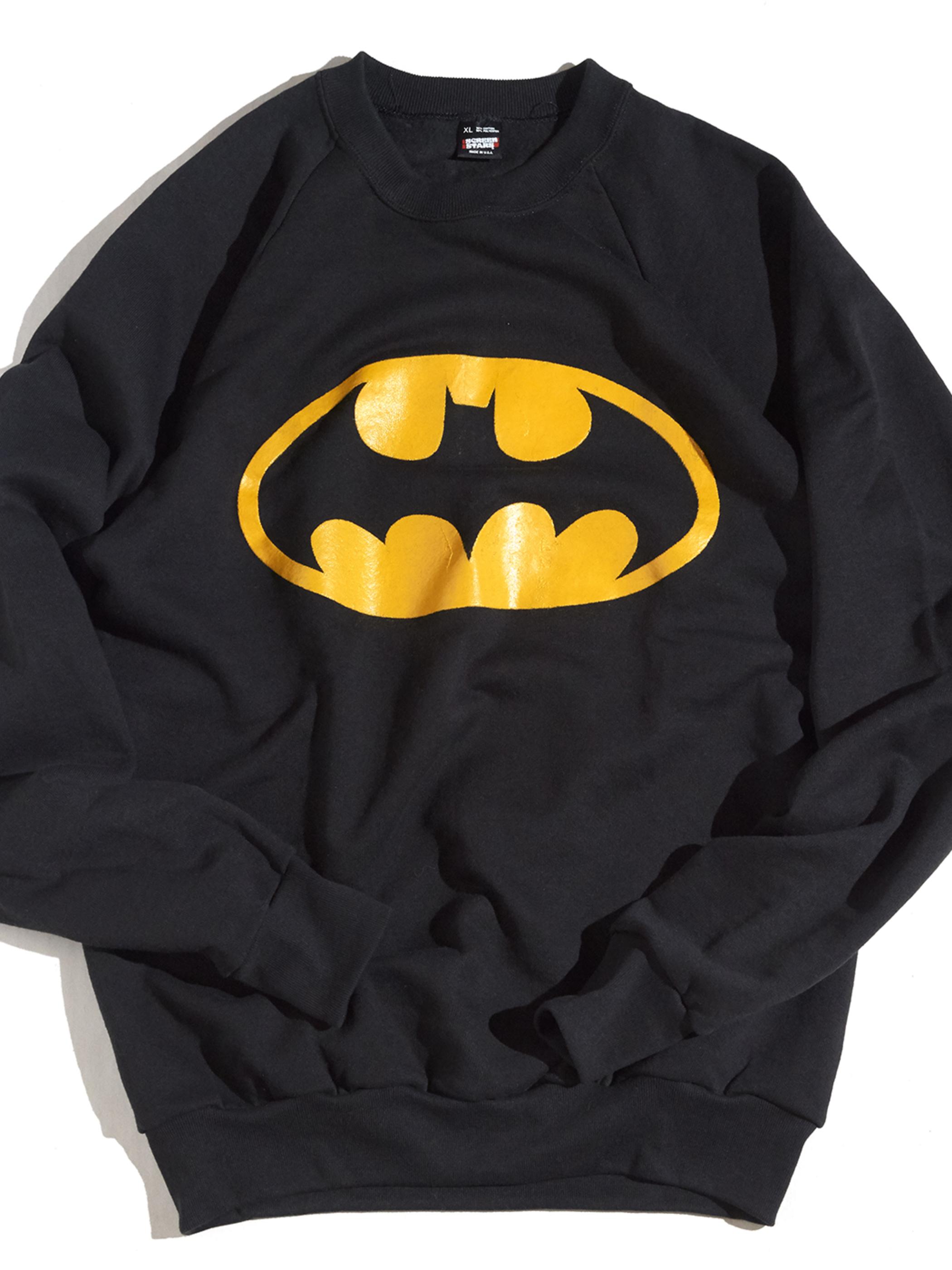 "1980s ""BATMAN?"" bootleg print sweat -BLACK-"