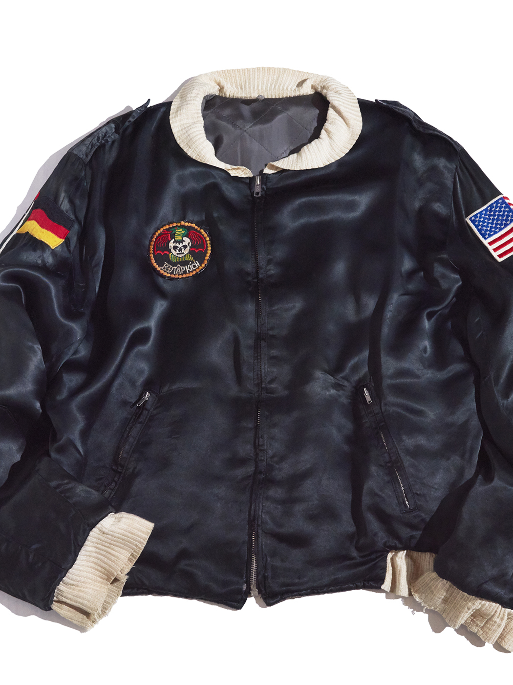 "1950s ""unknown"" souvenir jacket -BLACK-"