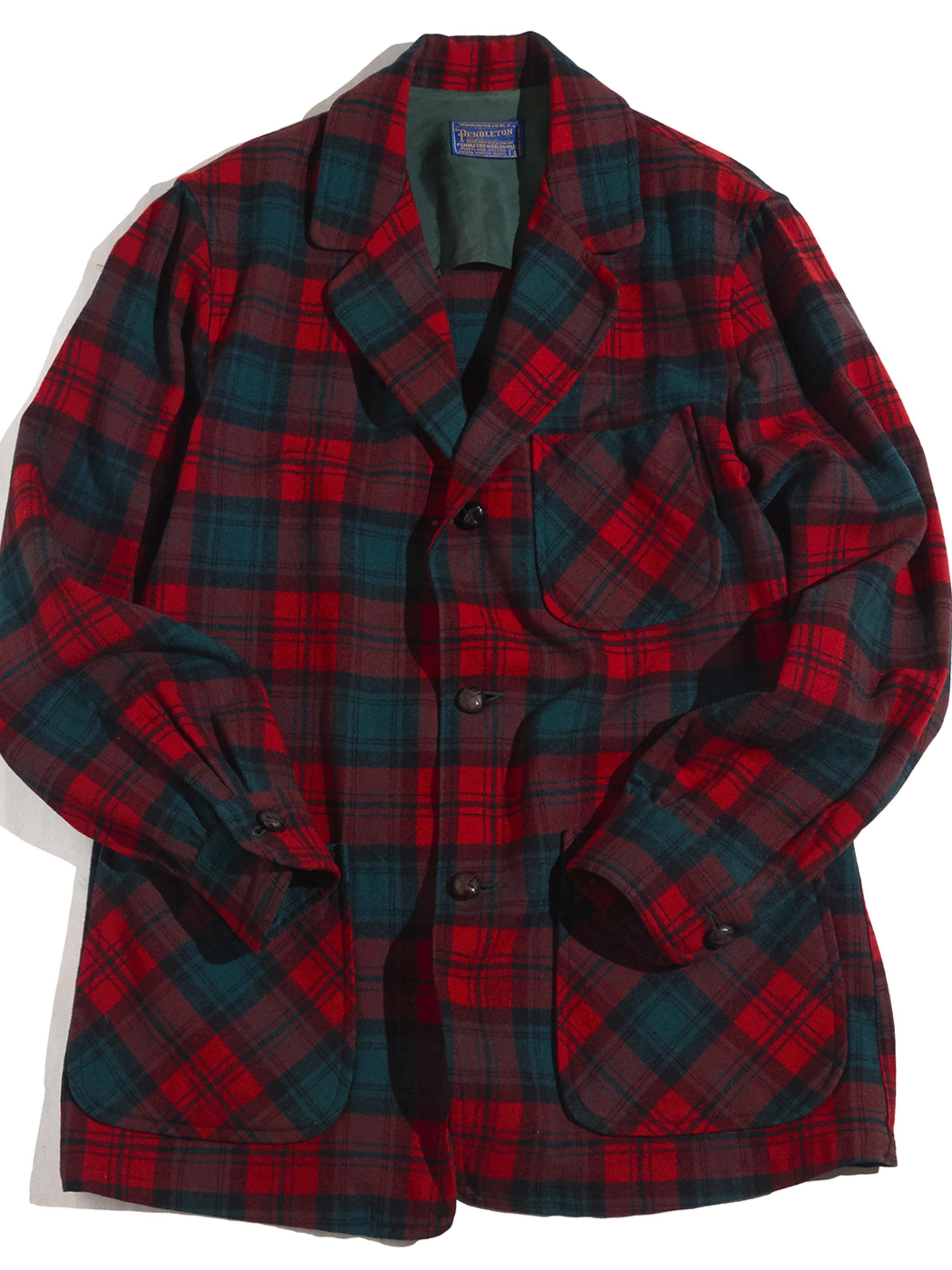 """1960s """"PENDLETON"""" wool check jacket -RED-"""