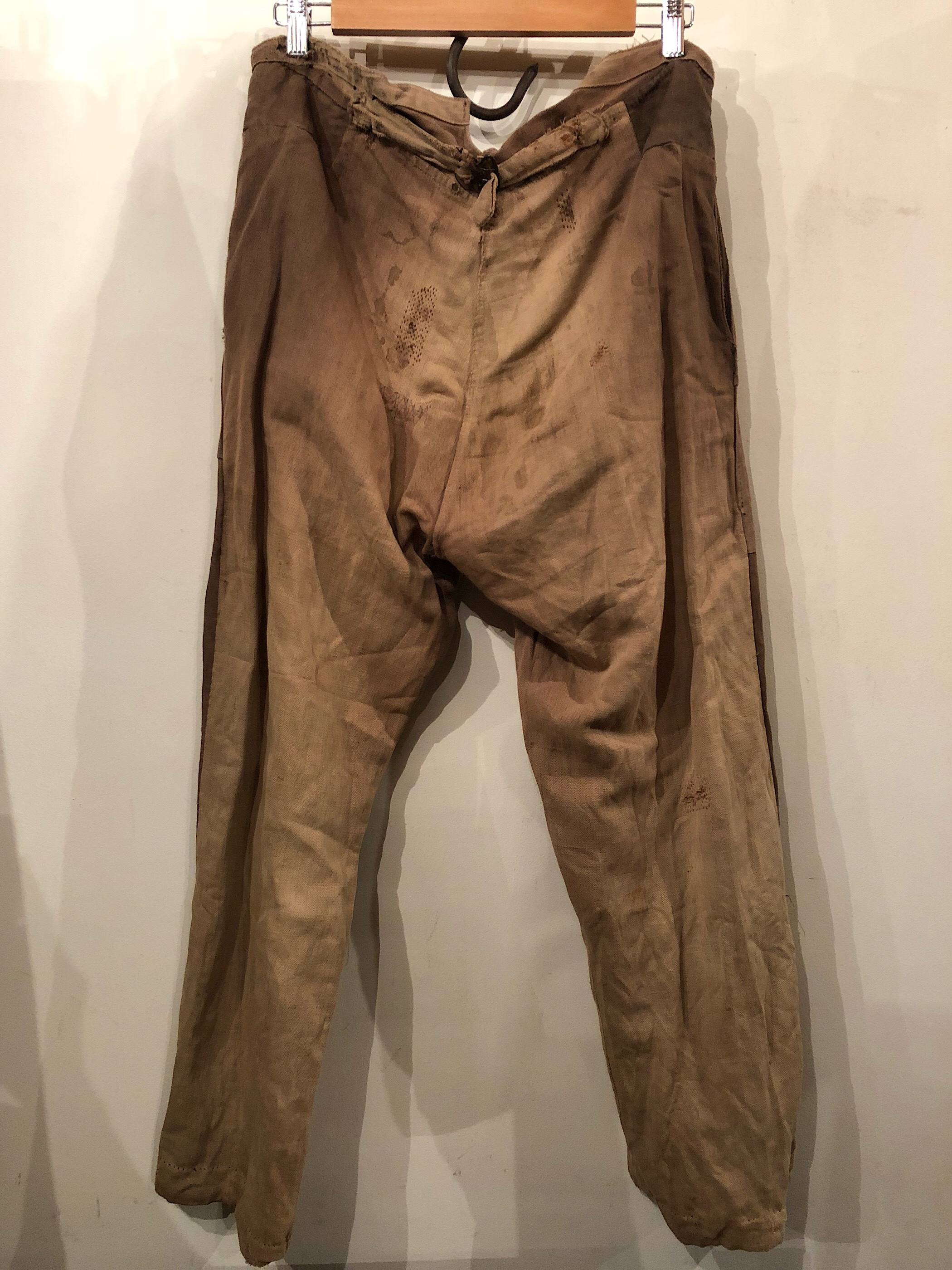 〜1940s French brown herringbone work trousers
