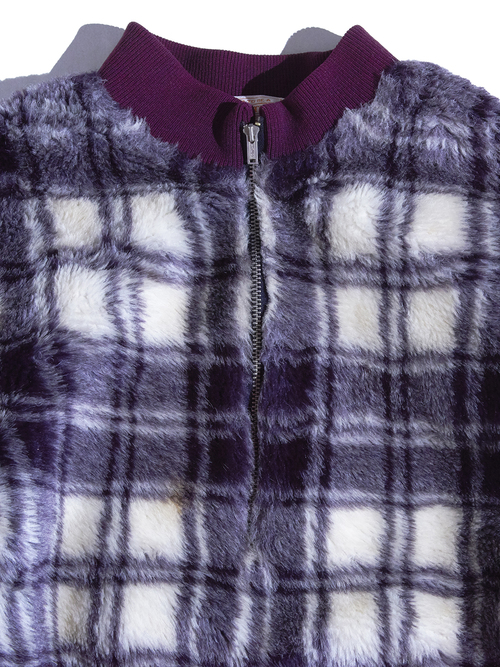 "1970s ""PENDLETON"" pullover faux fur jacket -PURPLE-"