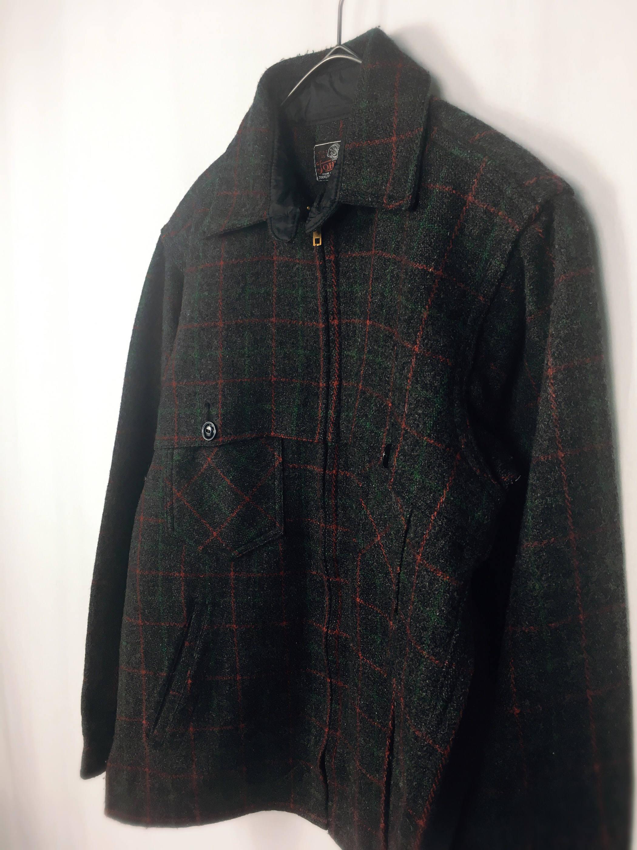 70-80's JOHNSON wool  Shirts Jacket ジョンソン シャツジャケット[size15]