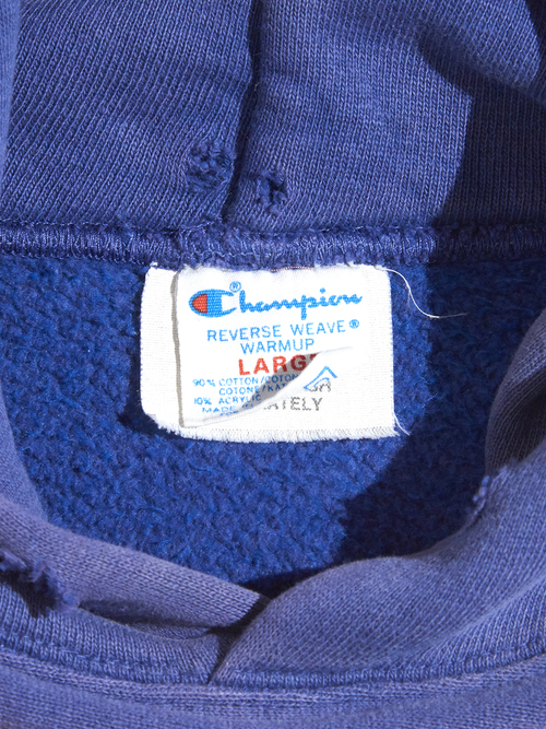 "1980s ""Champion"" REVERSE WEAVE sweat parka -NAVY-"