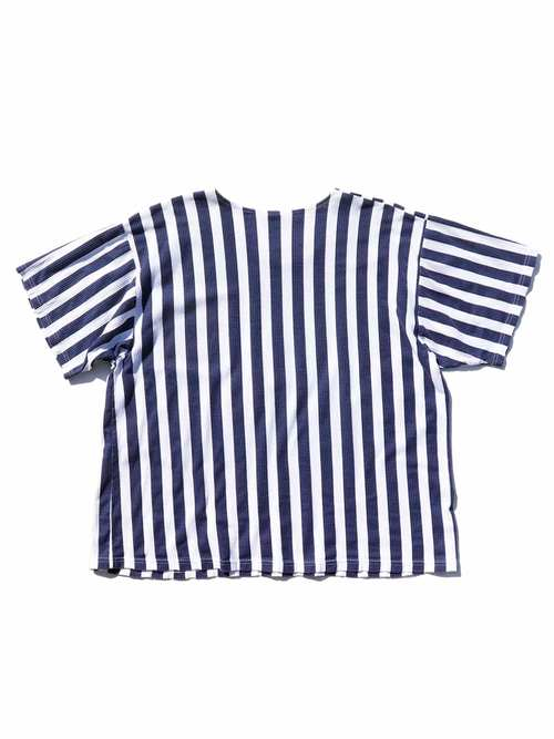 90's~ PILL Embroidered Stripe T-Shirt [About M]