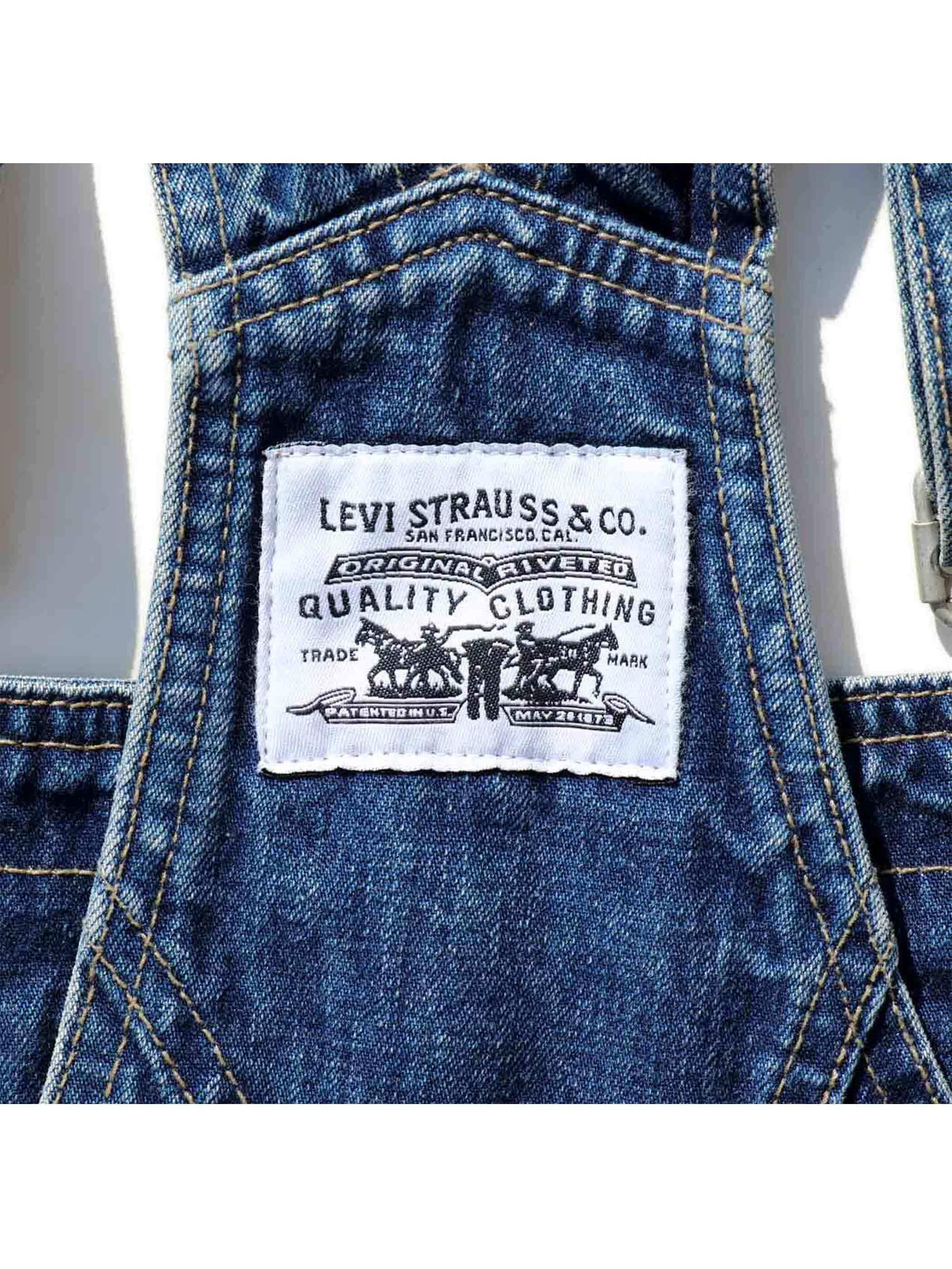 90's LEVI'S デニム オーバーオール [S]