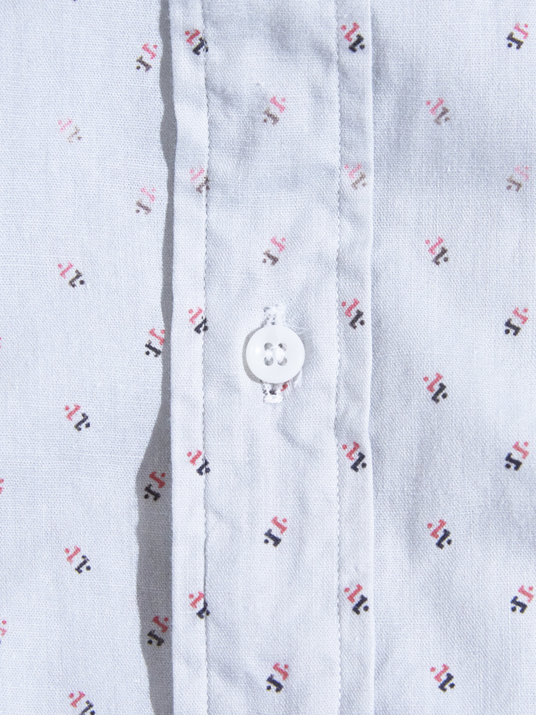 "NOS 1960s ""HAMPTON"" cotton shirt -PATTERN-"
