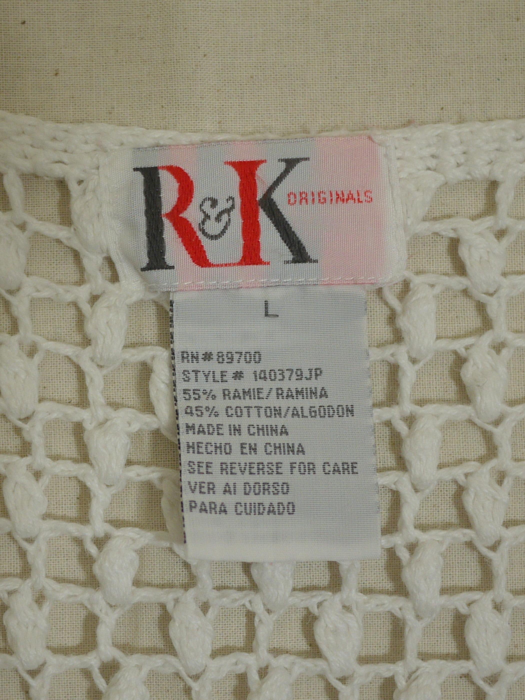 R&K Cardigan SizeL