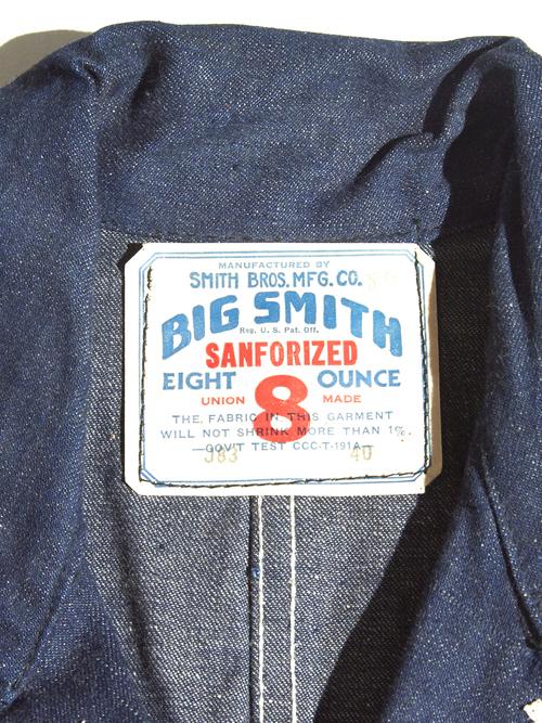 """NOS 1950s """"BIG SMITH"""" denim coverall jacket -INDIGO-"""