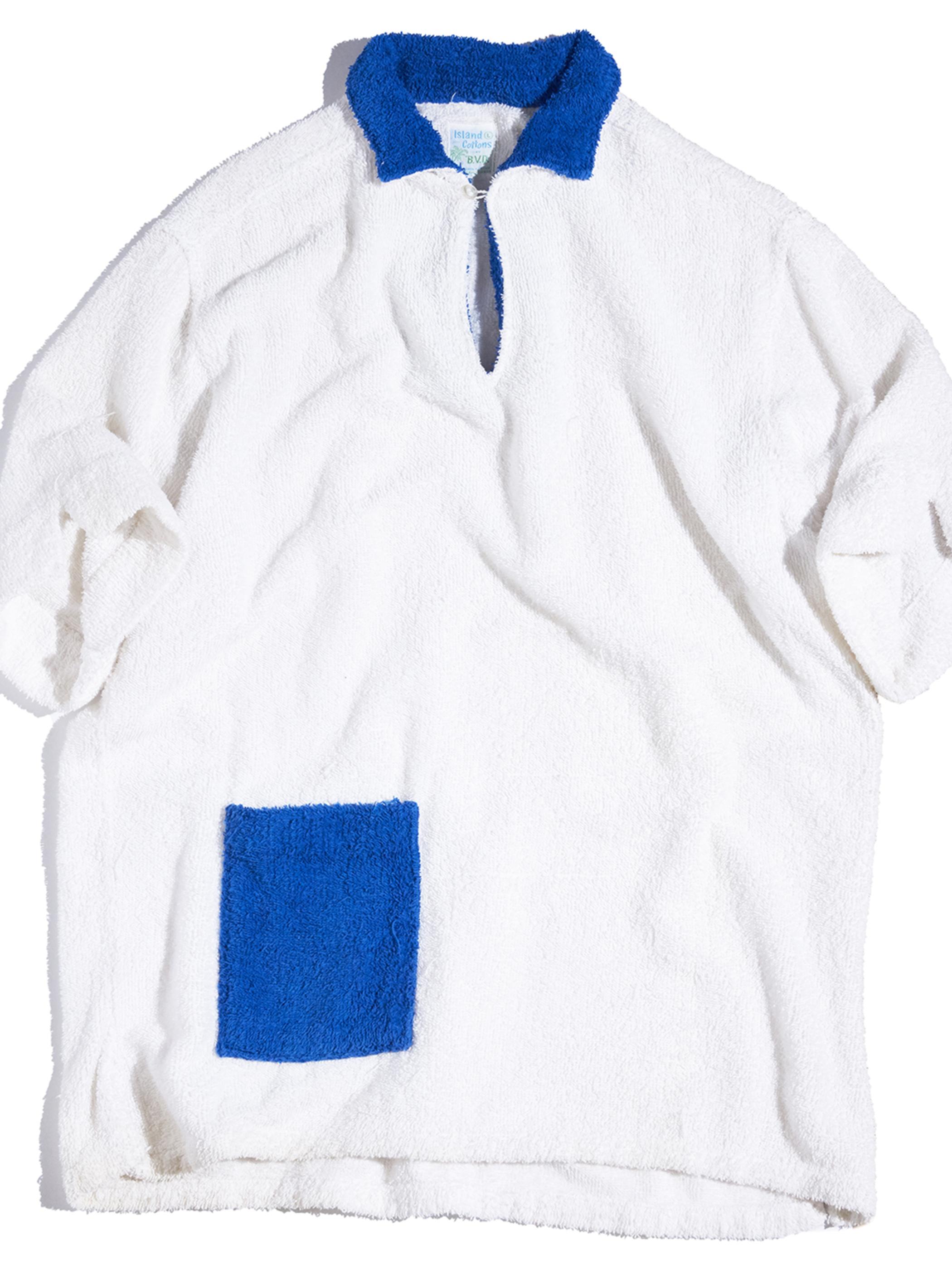 """1960s """"B.V.D"""" s/s pile shirt -WHITE-"""