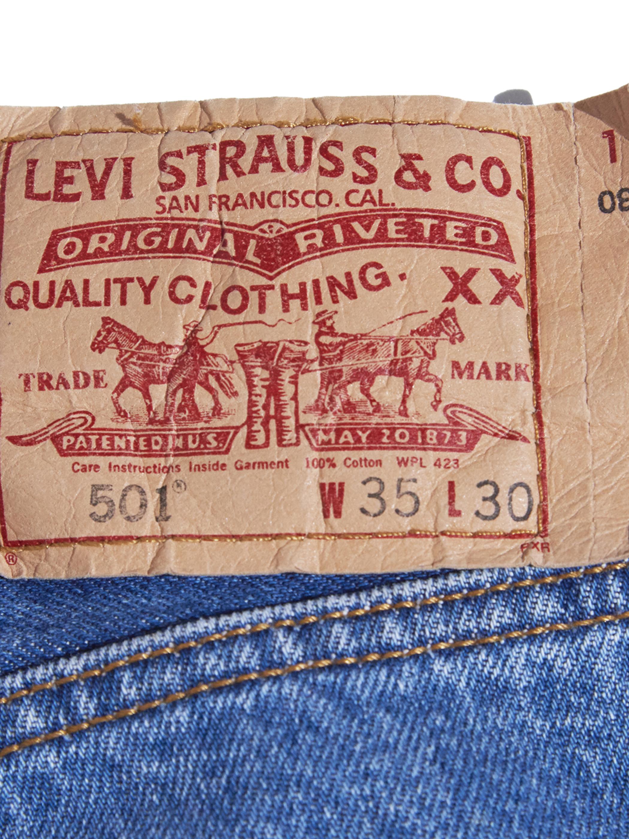 "2000s ""Levi's"" Lot.501 custom center crease denim pants -INDIGO-"