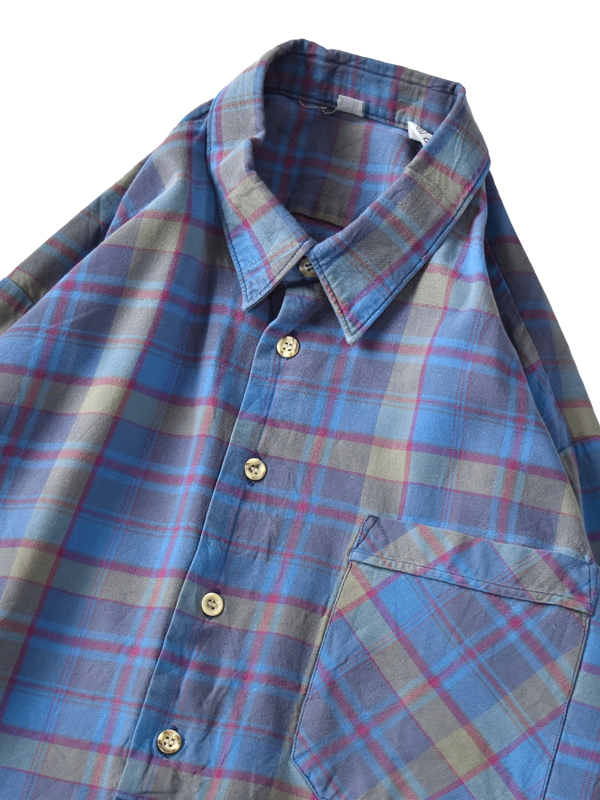 チェック グランパシャツ / check grandpa shirt