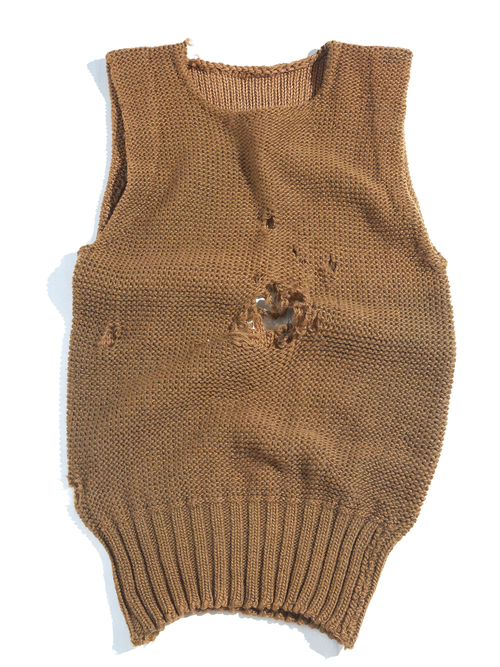 "1940s ""AMERICAN REDCROSS"" wool knit vest -BROWN-"