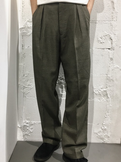 J.RIGGINGS 2tuck polyester&rayon slacks