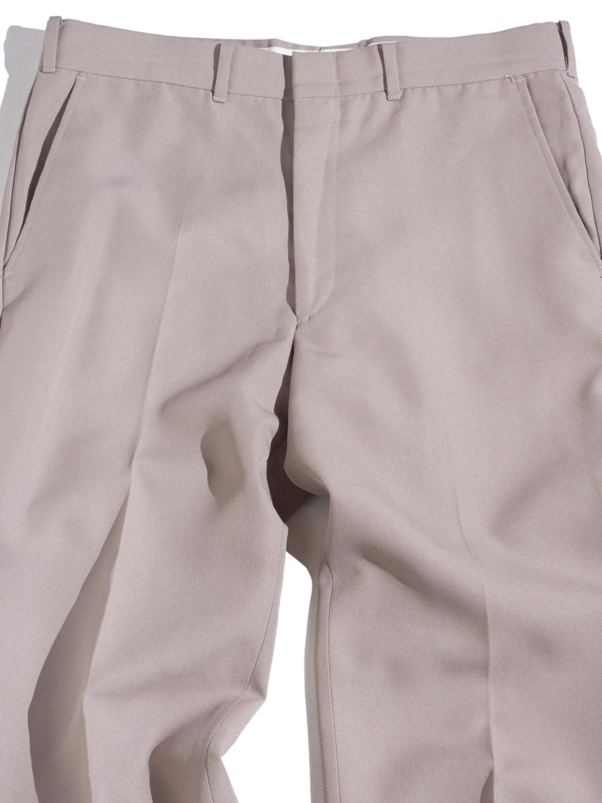 "1970s ""SEARS"" PERMA PREST®︎ polyester slacks -BEIGE-"