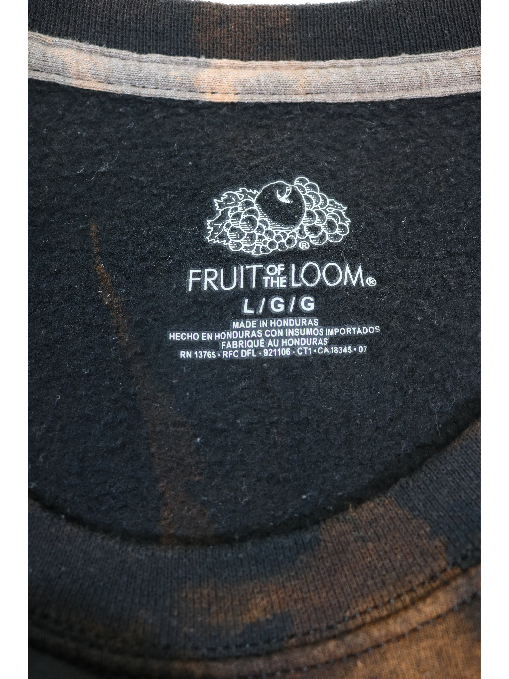 FRUIT OF THE LOOM Bleach sweat